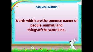 learn grade 2 english grammar nouns youtube