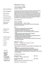 Sample Of Resume Skills And Abilities by Accounting Clerk Resume Sample Example Job Description