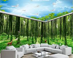 online get cheap kind wallpaper aliexpress com alibaba group beibehang silk cloth wallpaper fantasy forest all kinds of animals flower vine full house background wall