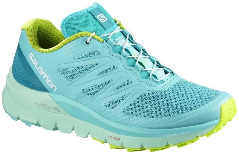 Salomon Sense Pro Max Trail Running Shoe Blue Curacao/Beach Glass/Acid Lime 8.5 US Regular L40070100-8.5
