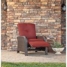 Polyethylene Patio Furniture by Strathmere Luxury Recliner In Crimson Red Strathrecred