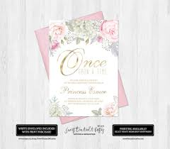 princess floral birthday invitation fairytale first birthday
