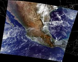 Sierra Madre Occidental Map Nasa Visible Earth Mexico