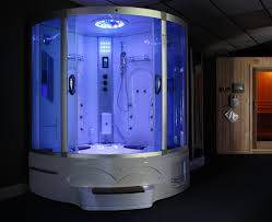 Jetted Tub Shower Combo Big Steam Shower Room W Whirlpool Tub Jacuzzi Bluetooth Audio