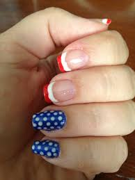 4th of july nails gelish polish gel nails red and white french