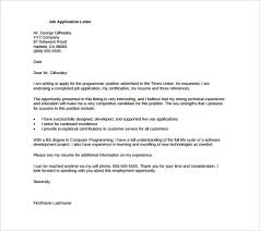 Resume Application For Job by Application Letter For Jobs Format