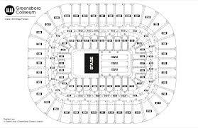 seating chart see seating charts module greensboro coliseum