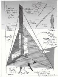relaxshacks com a triangular treehouse sketch daydream plan