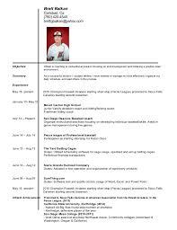 Sample Resume  Brett Coaching Resume Balkan Carlsbad Ca  Mr  Resume
