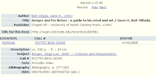 Image of SAGE full record for  quot Borges and His Fiction quot  Colorado State University Libraries