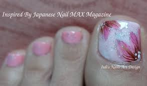 nail max magazine inspired toes art design lovery pink on pink