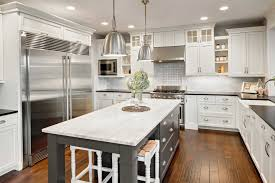 granite countertop design for kitchen cabinet white brick