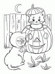 cute halloween cats coloring pages for kids pumpkin printables