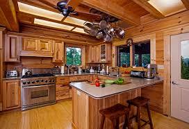 House Designs Kitchen Log Cabins Inside Kitchen For Log Cabin Amusing Log Home