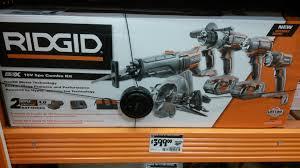 black friday 2016 home depot power tools ridgid gen5x combo kit 5 power tools for 399