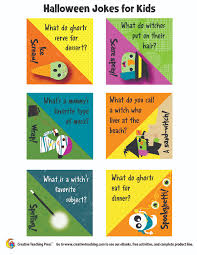 silly halloween jokes for kids from creative teaching press