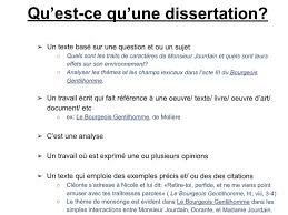 Dissertation De Francais Methodologie