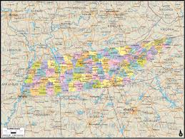 West Tennessee Map by Geoatlas United States Canada Tennessee Map City Illustrator