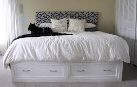 Platform Storage Bed Plans With Drawers by Ana White King Storage Bed Diy Projects