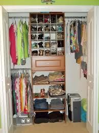 retro bedroom design with small white closet organization ideas