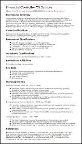 Sample Of Resume Skills And Abilities by Financial Controller Cv Sample Myperfectcv