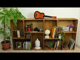 diy wooden crates bookcase youtube