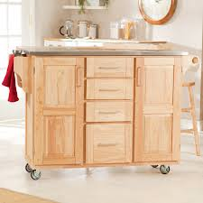 Kitchen Carts On Wheels by The Fairmont Kitchen Cart With Optional Stools Hayneedle