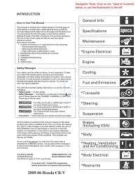 amazon com 2005 2006 honda cr v shop service repair manual cd w