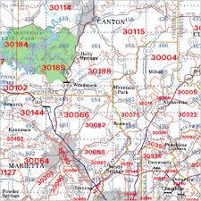 Map Grid Atlanta Georgia Zip Code Wall Maps Aero Surveys Of Georgia