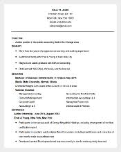 Best Resume Templates to Download   Free  amp  Premium Templates Template net Sample Accounting Auditor Resume Template Word Doc