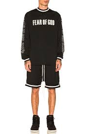 black motocross jersey fear of god mesh motocross jersey in black fwrd
