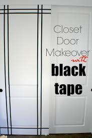 Closet Door Ideas Diy by Closet Door Makeover Using Electrical Tape