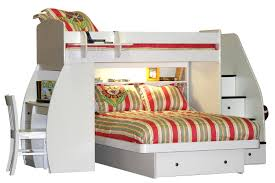 Maple Wood Bedroom Furniture Bedroom L Shaped Cream Maple Wood Loft Bunk Bed With Storage