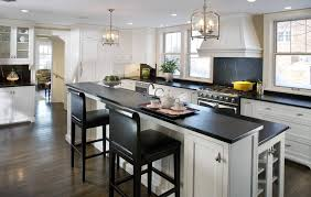 Off White Kitchen Cabinets With Black Countertops Pictures Granite Kitchen Countertops Off White Cabinets With Dark