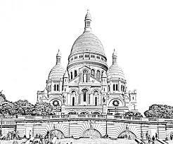 sacre coeur paris paris coloring pages for adults justcolor