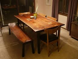 mid century modern dining tables custommade com modern walnut dining set with maple inlay