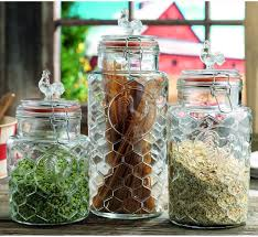 Glass Canisters For Kitchen Extravagant And Functional Kitchen Canisters For Storage