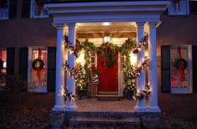interior contempo front porch design ideas with red single front