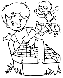 free picnic coloring pages for kids enjoy coloring holiday