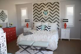 Grey And White Bedroom Wallpaper How To Wallpaper A Space Using A Chevron Pattern