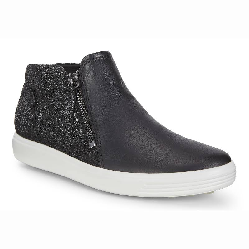 ECCO Soft 7 Low Bootie Black / Black