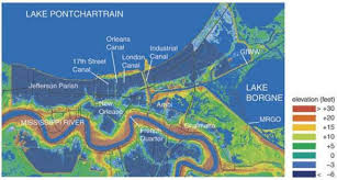 Map New Orleans French Quarter by Topic Six Maps In Environmental Geology Environmental Issues