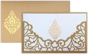 Card Invitation Laser Artwork On The Holder Pocket Of The Invitation Card