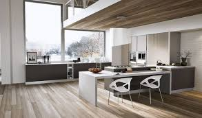 white and wood floors and modern grey kitchens google search