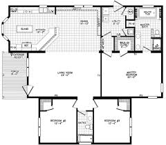 1 Bedroom Modular Homes Floor Plans by The Scarlett Ranch Style Modular Home Floor Plan