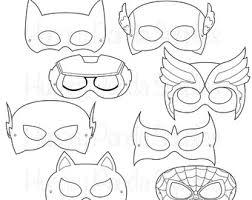 superhero printable coloring masks par happilyafterdesigns sur