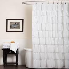 bathroom enchanting ruffle shower curtain for bathroom decoration