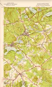 Map Of The New England States by Westford Ma Quadrangle