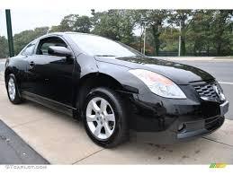 nissan altima coupe black super black 2008 nissan altima 2 5 s coupe exterior photo