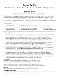 laura miller resume marketing manager professional experience     SinglePageResume com
